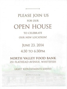 North Valley Food Bank Open House